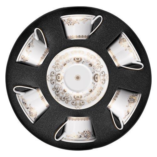 Rosenthal Versace,'Medusa Gala' Набор из 6 чайных чашек с блюдцами,0.22 л