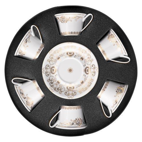 Rosenthal Versace,'Medusa Gala Gold' Набор из 6 чайных чашек с блюдцами,0.22 л