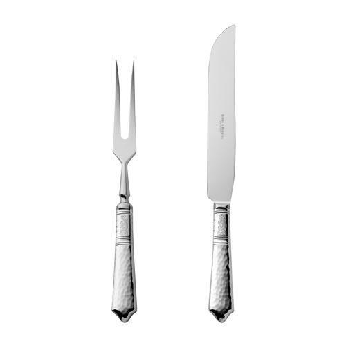 Юбилейная коллекция Robbe & Berking 'Hermitage' Набор для нарезки мяса 150 гр. серебрения