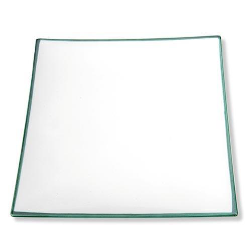 Gmundner Keramik,'Grüner Rand' Тарелка 'Trend' квадратная,26x26 см