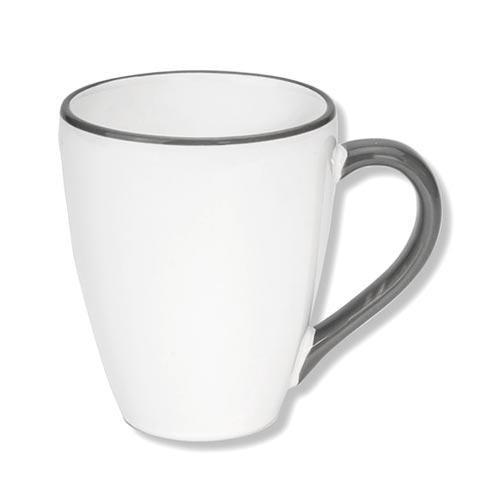 Gmundner Keramik,'Grauer Rand' Чашка для завтрака 'Max Gourmet',0.3 л