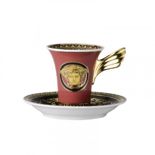 Rosenthal Versace 'Ikarus Medusa' Чашка для эспрессо / мокка с блюдцем,0.09 л