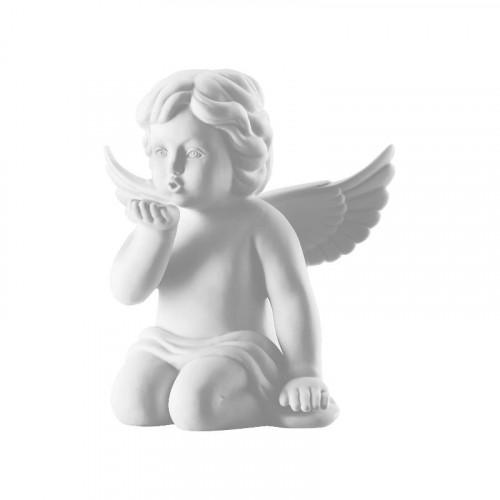 Rosenthal Selection,'Engel' Ангел с воздушным поцелуем большой,цвет: белый матовый,14.5 см