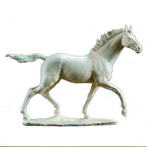 Hutschenreuther,'Pferd und Reiter' Статуэтка 'Чистокровная лошадь Jazda' 37см высота,50см ширин