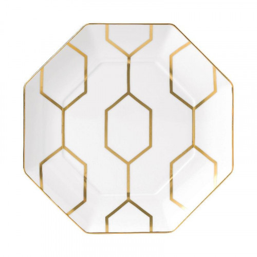 Wedgwood,'Arris'' Тарелка плоская,восьмиугольная,23 см