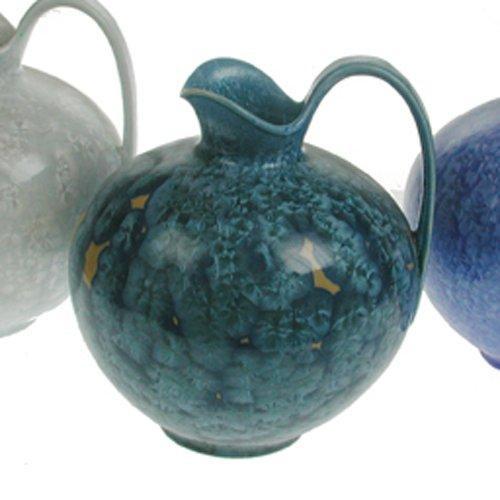 Uhl-Design Кувшин с ручкой,цвет: бирюзовый Ручная работ с дорогостоящей кристаллической глазурью