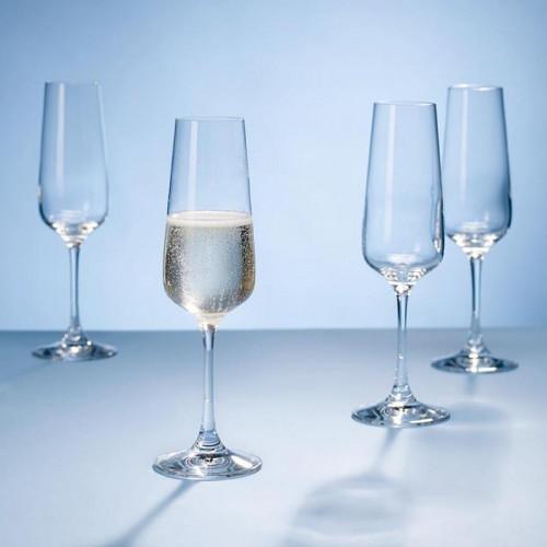 Villeroy & Boch,'Ovid Kristallglas' Бокал для шампанского,набор из 4 предм. 0.25 л / высота: 228 мм