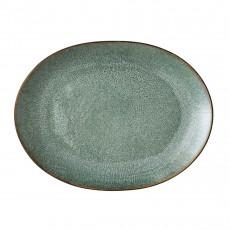 Bitz Gastro black / green Grillteller oval 30x22,5 cm