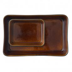 Bitz Gastro black / amber Auflaufform Set 2-tlg.