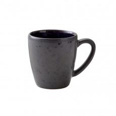 Bitz Gastro black / dark blue Becher mit Henkel klein 0,19 L / h: 8 cm