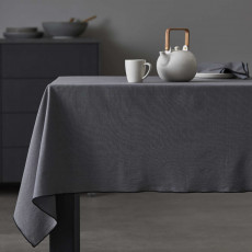 Organic by Bitz & Södahl grey / black Tischdecke 250x140 cm