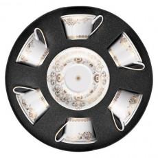 Rosenthal Versace 'Medusa Gala Gold' Набор из 6 чайных чашек с блюдцами,0.22 л
