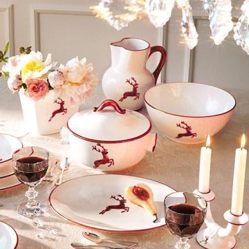 Gmundner Keramik Bordeauxroter Hirsch