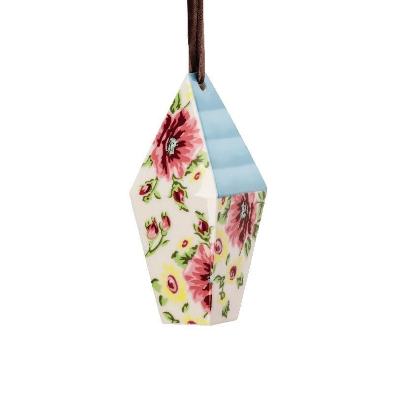 Hutschenreuther Springtime Anhänger Vogelhaus Flowers 10,7x4,4x4,4 cm | Garten > Tiermöbel > Vogelhäuser-Vogelbäder | Hutschenreuther