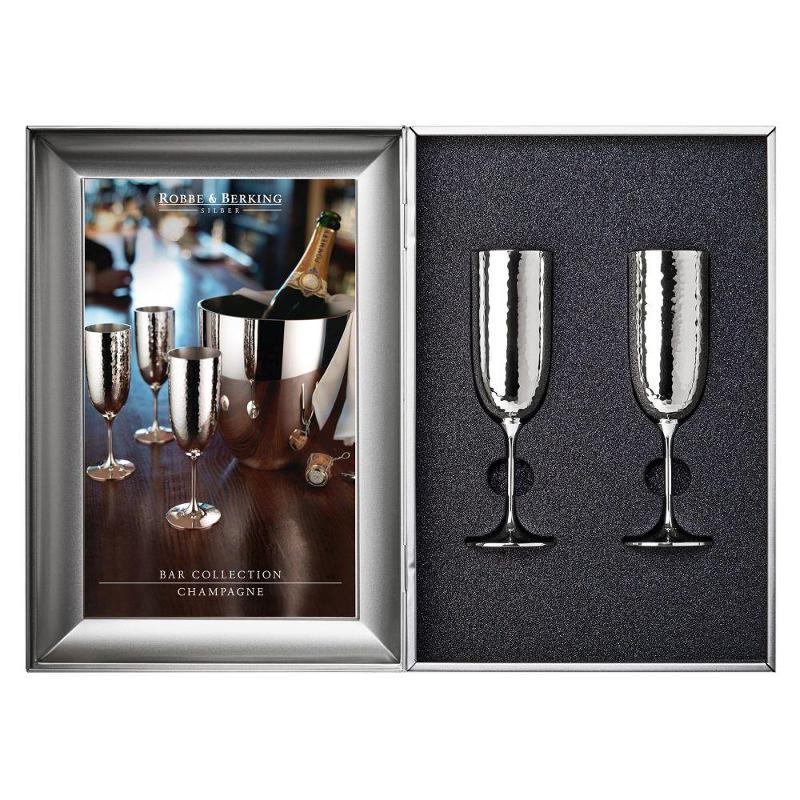 Robbe & Berking Besteck Martele Bar Collection - 90 gramm versilbert Geschenkset - Champagnerkelch 2-tlg. | Küche und Esszimmer > Bar-Möbel > Bars | Robbe & Berking