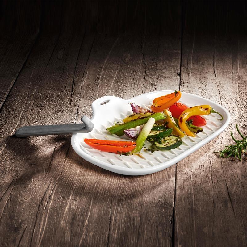 Villeroy & Boch BBQ Passion Grillplatte mit Griff 27,5x21x3,5 cm | Garten > Grill und Zubehör | Villeroy & Boch