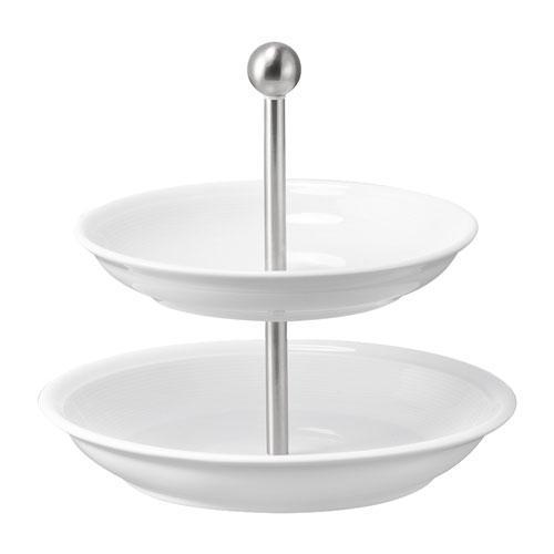 Thomas Trend Weiss Etagere 2-tlg. Oberer Teller 19cm / Unterer Teller 22 cm | Küche und Esszimmer > Aufbewahrung > Etageren | Weiss | Thomas