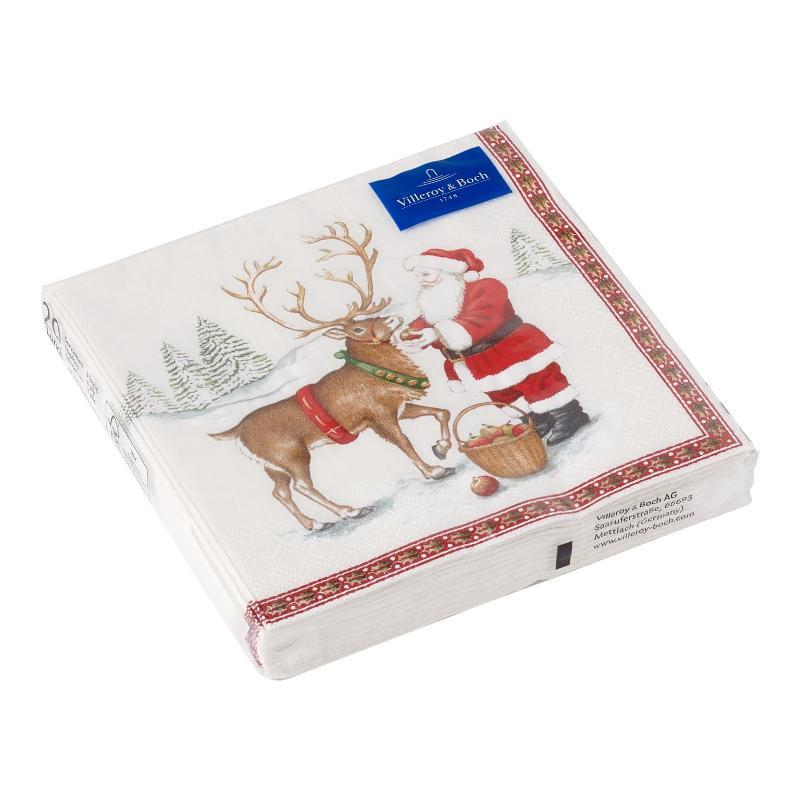 Villeroy & Boch  'Winter Specials' Serviette Lunch 'Rentier' 20 Stück 33x33 cm   Heimtextilien > Tischdecken und Co > Servietten   Villeroy & Boch