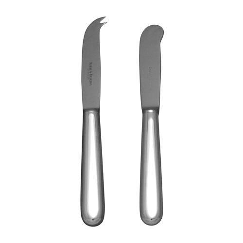 Robbe & Berking Dante 925 Sterling Silber Butter/Käse-Besteck m. Stahlklinge