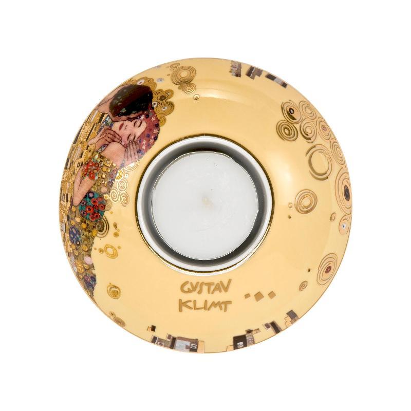 Goebel der Kuss von Gustav Klimt - Limited Edition zum 100. Todestag Teelicht d: 10 cm - Limited Edition 4.999 Stück mit Zertifikat   Dekoration > Kerzen und Kerzenständer > Teelichter   Goebel