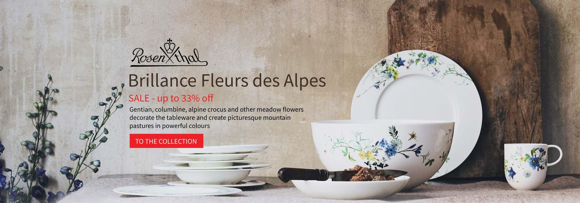 Rosenthal Selection Brillance Fleurs des Alpes