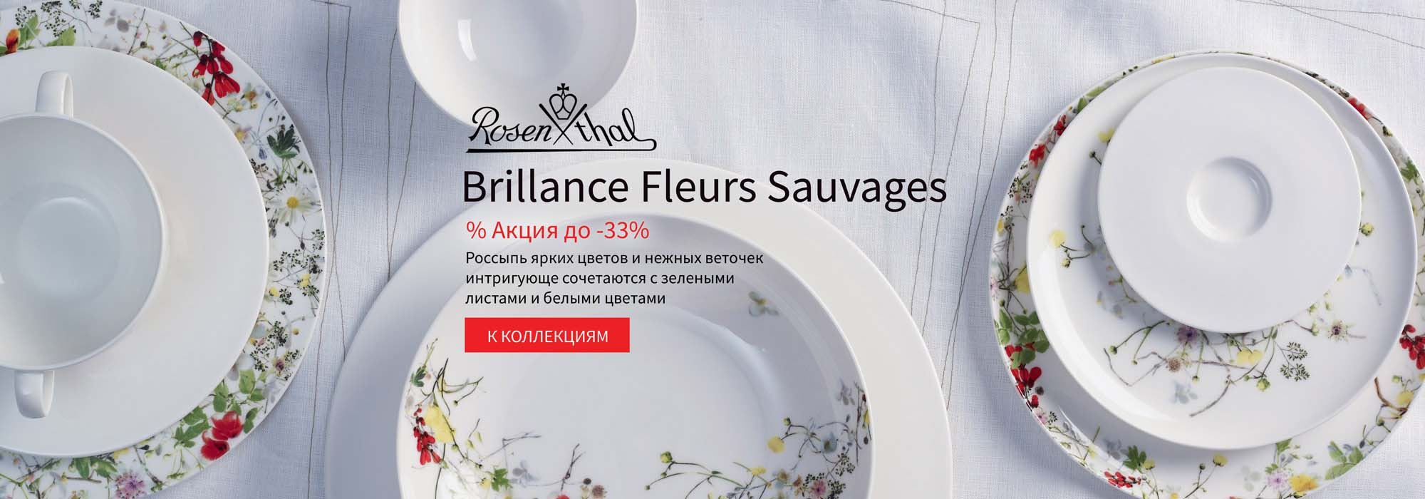 Rosenthal Selection Brillance Fleurs Sauvages